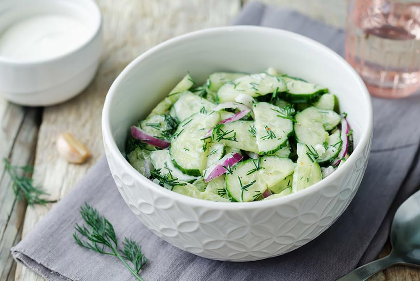 Cucumber Slices with Dill Recipe
