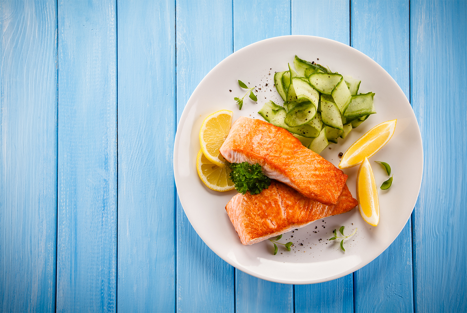 Salmon and Cucumber Salad