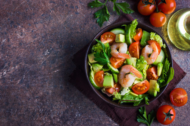 Shrimp and Cucumber Salad